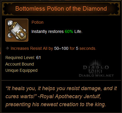 Bottomless Potion Of The Diamond Diablo Wiki