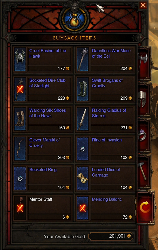 thumb\The item buyback interface.