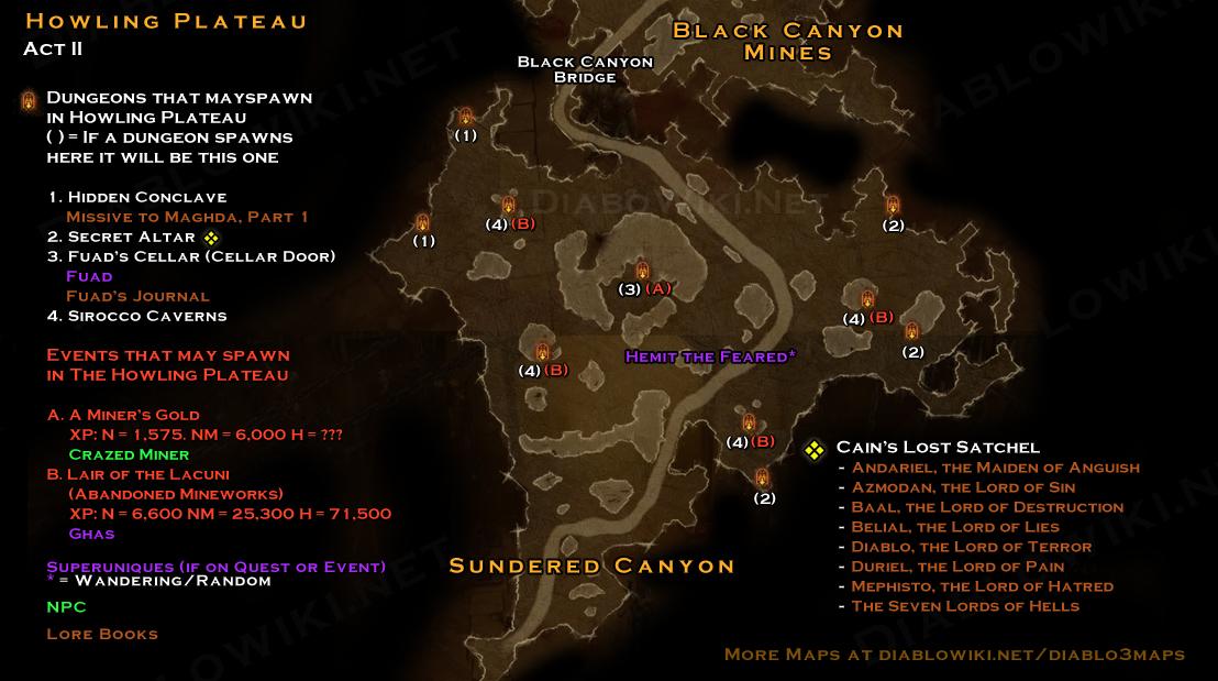 Howling Plateau map - Diablo Wiki