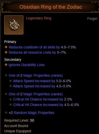 Diablo  Ring Of The Zodiac