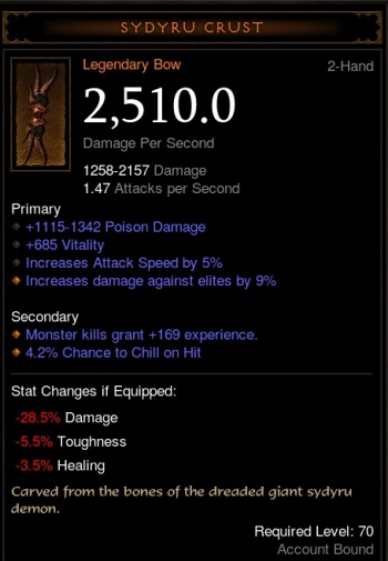 Diablo  Crafted Affixes