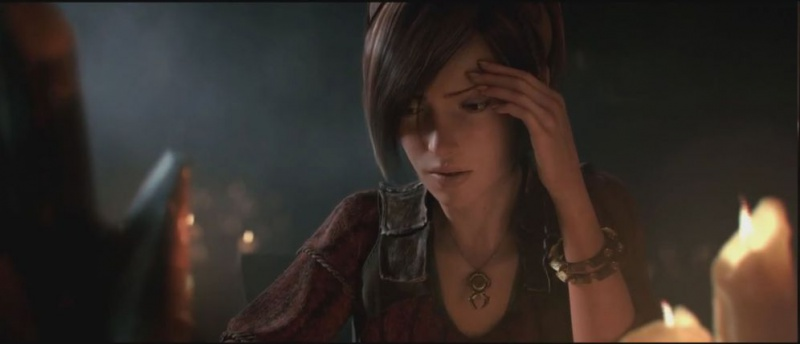 Leah in the Black Soulstone cinematic in Diablo 3
