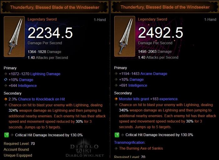 Thunderfury, Blessed Blade of the Windseeker - Diablo Wiki