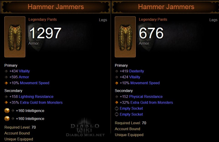 diablo 3 how to get hammer jammers at level 70