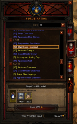Crafting diablo wiki for Diablo 3 crafting items