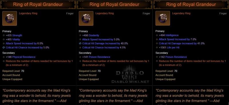 Diablo  Ring Of Royal Grandeur Season