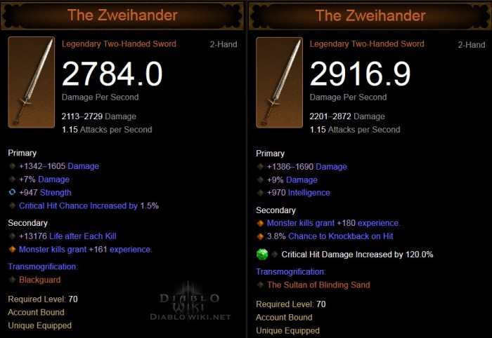 The Zweihander - Diablo Wiki
