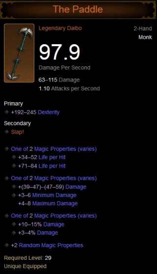 The Paddle - Diablo Wiki