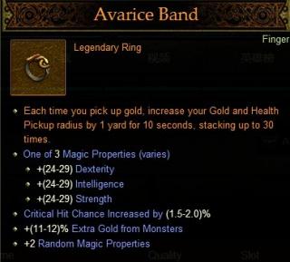 Avarice Band - Diablo Wiki